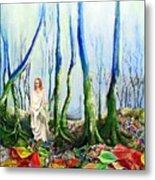 Forest Of Divine Light Metal Print