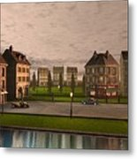 French City Landscrape Metal Print