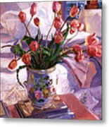 Fresh Tulips Metal Print