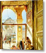 Gate Of The Great Mosque. Damascus Metal Print