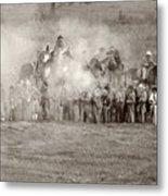 Gettysburg Confederate Infantry 7503s Metal Print
