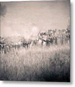 Gettysburg Confederate Infantry 9112s Metal Print
