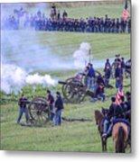 Gettysburg Union Artillery And Infantry 7439c Metal Print