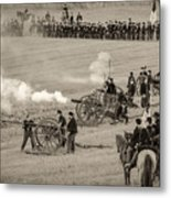 Gettysburg Union Artillery And Infantry 7439s Metal Print