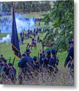 Gettysburg Union Artillery And Infantry 7459c Metal Print