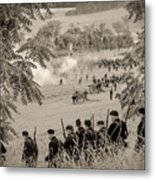 Gettysburg Union Artillery And Infantry 7465s Metal Print