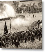 Gettysburg Union Artillery And Infantry 7496s Metal Print