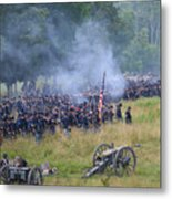 Gettysburg Union Artillery And Infantry 8456c Metal Print