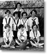 Girls High School Basketball Team 1910s Black Metal Print