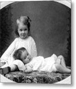 Girls Posing June 30 1905 Black White 1900s Metal Print