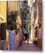 Greece. Venetian Street In Corfu Old Town. Metal Print