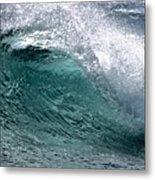 Green Cresting Wave, Hawaii Metal Print