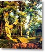 Green Summer-the Oak Forest Metal Print