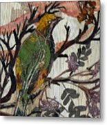Green-yellow Bird Metal Print