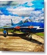 Hawker Hunter T7 Aircraft On Wood Metal Print