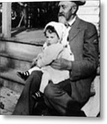 Holding Toddler 1912 Black White 1910s Archive Metal Print