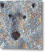 Holiday Hearts Polar Bear Metal Print