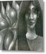 I And My Flower  Metal Print