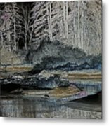 Iced View Metal Print