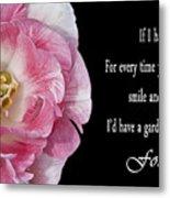 If I Had A Flower Metal Print