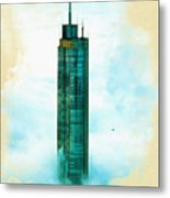 Illustration Of  Trump Tower Metal Print