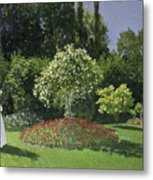 Jeanne Marie Lecadre In The Garden Metal Print
