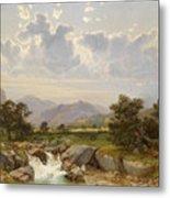 Landscape Near Abtenau Metal Print