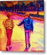 Lets Play Ball At Beaverlake Park Metal Print