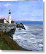 Lighthouse South Portland Me  Metal Print