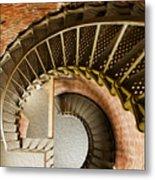 Lighthouse Stairs Cape Blanco Oregon 1 Metal Print