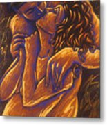 Los Amantes The Lovers Metal Print