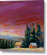 Lovely Sweeping Skies  Metal Print