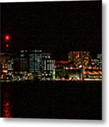 Madison Wi Skyline At Night Metal Print