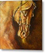 A Winning Racer Brown Horse Metal Print
