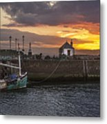 Maryport Harbour At Sunset Metal Print