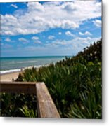 Melbourne Beach On The East Coast Of Florida Metal Print