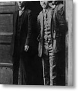 Men Males In Suits Standing Doorway June 1927 Metal Print