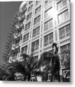 Miami House Metal Print