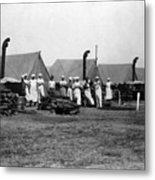 Military Cooks Next Stoves Tents Wood Circa 1910 Metal Print