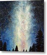 Milky Way At Night Metal Print