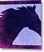 Mindy's Purple Horse  Metal Print