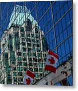 Modern Architecture - City Reflection Vancouver  Metal Print