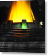 Mulholland Fountain Reflection Metal Print by Clayton Bruster