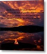 No One Can Quench The Fire Of Love In My Heart Metal Print