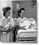 Nurses Training Dummy Babies Circa 1960 Black Metal Print