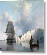 Off The Needles. Isle Of Wight Metal Print