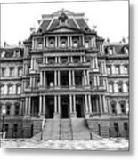 Old Executive Office Building Bw Metal Print