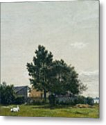 Party Near The Lime Kiln With Views Towards The Copenhagen  Metal Print