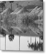 Pyrimids By The Lakeside Cache Metal Print
