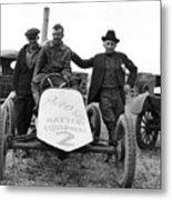 Race Car Team 1923 Black White 1920s Archive Metal Print